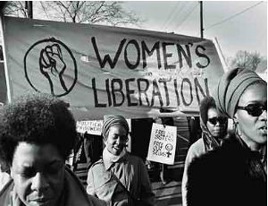 Women's march, circa 1976. Source: Harsh Research Collection, Brenda Eichelberger/National Alliance of Black Feminists Papers