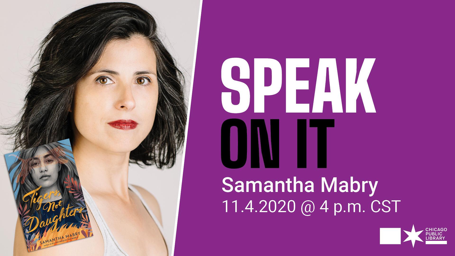 SpeakOnIt.SamanthaMabry.ChicagoPublicLibrary.November2020